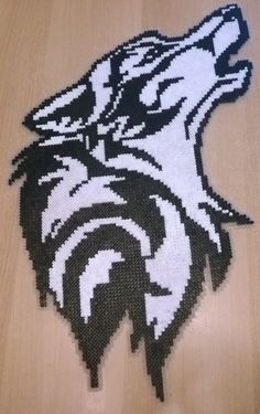 Wolf perler beads. My grandmother Birthday Present by Szilvi