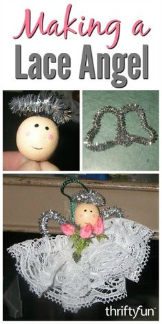This is a guide about making a lace angel. A holiday craft project that you can personalized for a special gift.