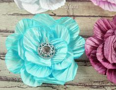 Twisted paper cord flowers video tutorial
