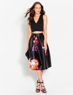 Jacquard Plunge Crop | Dotti #tops #formal #skirts