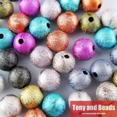 Free Shipping Mixed Stardust Acrylic Round Ball Spacer Beads Charms Findings 4 6 8 10 12 MM Pick Size For Jewelry Making AC1
