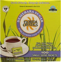 FLORIDA CRYSTALS SUGAR CANE DEMERARA 100CT SS, 10 OZ -- Special offer just for you. : Baking supplies