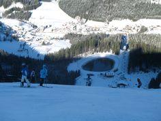 Blick von der Kleinen Ötscherpiste auf Lackenhof (c) Ötscherlift Gesellschaft m.b.H. Mount Everest, Vacation, Mountains, Winter, Nature, Travel, Ski Resorts, Ski, Winter Time