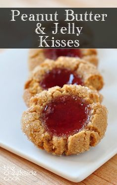 Peanut Butter and Jelly Kisses - with strawberry jam - like the sandwich, only way better!| The Creekside Cook
