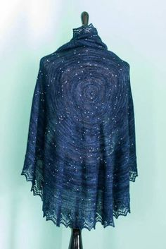 A beautiful star chart shawl. Available on Ravelry.
