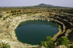 The Eye, Bulgaria destination  Mine Crater  Landscape photography