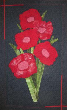 """Red Roadishia"" Felted flowers"