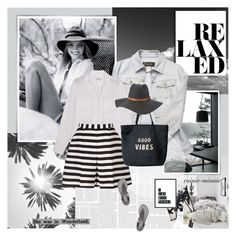 """Relaxed"" by rainie-minnie ❤ liked on Polyvore featuring ADAM, Versace, Equipment, Reiss, Venus, Charlotte Russe, Bobbi Brown Cosmetics, Pier 1 Imports, NARS Cosmetics and Bamboo"
