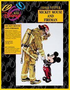 * Mickey Mouse and Fireman - Disney Cross Stitch