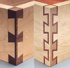 Fine Detail in Hand cut dovetails