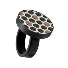 Fingerring Keramik Grafik 371-819-SW h kollektion Schmuck