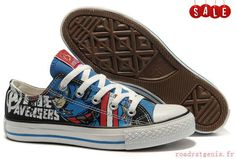 39173751f7a2 The Avengers Captain America Converse All Star Low - Visit to grab an  amazing super hero shirt now on sale!