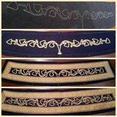 Hussar costume: how the collar is made.  By Angela Mombers.