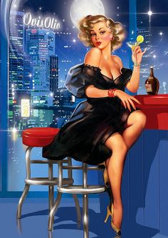 Beautiful Pin-Up Art ~ Tatiana Doronina | Flickr - Photo Sharing!