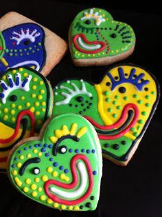 Mardi Gras Cookies via #TheCookieCutterCompany