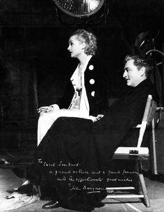 "Carole Lombard and John Barrymore. From ""Twentieth Century"", ."