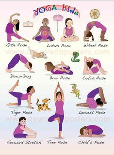 Yoga poses offer numerous benefits to anyone who performs them. There are basic yoga poses and more advanced yoga poses. Here are four advanced yoga poses to get you moving. Poses Yoga Enfants, Kids Yoga Poses, Yoga For Kids, Exercise For Kids, Kids Workout, Easy Yoga Poses, Stretches For Kids, Ayurveda, Yoga Fitness