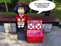Cesta de pinic de The Welly Home modelo berrie junto a Mafalda