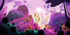 Postcard from an Alien planet on Behance
