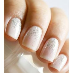 Wedding Nails 5 Unique Manicures for your Perfect Bridal Look! ❤ liked on Polyvore featuring beauty products, nail care and nail