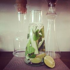 Lime, cucumber and mint water infusion. A client favorite!