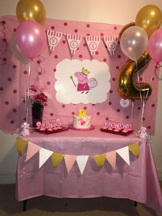 ideas party decoracion ideas birthday peppa pig for 2020 Peppa Pig Birthday Decorations, Peppa Pig Birthday Cake, Peppa Pig Party Ideas, Ideas Party, Fiestas Peppa Pig, Cumple Peppa Pig, 4th Birthday Parties, 2nd Birthday, Special Birthday