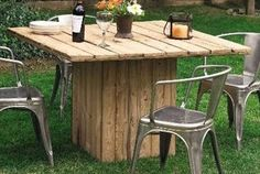 outdoor table made with pallets - Yahoo Image Search Results