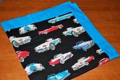 Classic Car baby blanket by DesertRoseBowtique on Etsy, $15.00