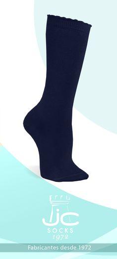 Calcetines altos niña algodón. JC Castellà fabricantes calcetines España