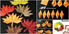 DIY Origami Fall Leaf Paper Wreath