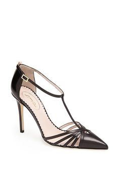Love this style in Navy Blue SJP by Sarah Jessica Parker SJP 'Carrie' T-Strap Pump available at Pumps Heels, Stiletto Heels, High Heels, Strappy Shoes, Look Fashion, Fashion Shoes, Sarah Jessica Parker Shoes, Pretty Shoes, T Strap