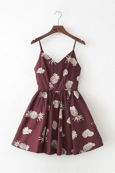 Pineapple Strap Cute Retro Sundress