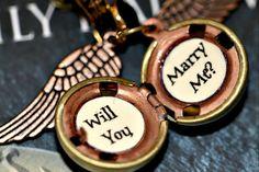 Will you Marry Me?  Snitch Proposal -- super cute.