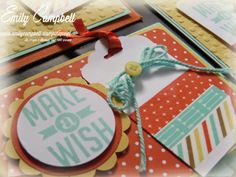 Retro Fresh Washi Tape, Perfect Pennants, Scallop Tag Topper Punch, Tiny Kiwi Cards