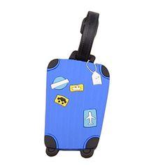 Fullkang Cute Cartoon Suitcase Luggage Tags ID Address Ho…