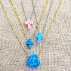 #Fire 🔥🔥🔥 #opal has also been one of the #latest #trend 😻 these #days. #Layer these #cross #heart 💙❤️💗💛 #fireopal #necklaces for an #amazing 🤗  #summer #look ☀️☀️☀️ #cute #charm #charmnecklaces #popular