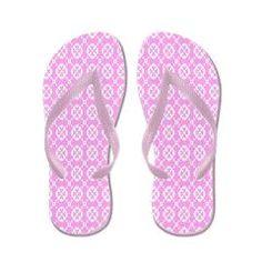 Summer Pastel Pattern Flip Flops $16.00 from Flip-Flop Fanatic
