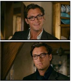 Completely obsessed with Jude Law's glasses in The Holiday. I went home and wrote in my journal that I wanted my husband to wear glasses just like Jude Law.