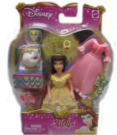 Disney Precious Princess Collectible - Belle by Mattel. $17.99. From the Manufacturer Disney Favorite Moments 4-Pack Giftset Collect all four of your favorite small Disney Princess dolls in one complete gift set. Each Favorite Moments Princess doll is dressed in her own signature gown and captures an authentic movie moment girls will remember. Collect Cinderella, Belle, Sleeping Beauty, and Ariel. Dolls cannot stand alone. Peggable blister card. Ages 3 and ...