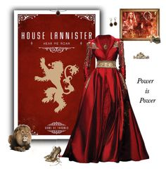 """House Lannister ~ A Lannister Always Pays His Depts"" by greerflower ❤ liked on Polyvore featuring Randa and Christian Louboutin"