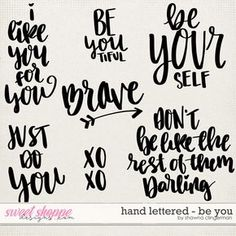Hand Lettered - Be You by Shawna Clingerman