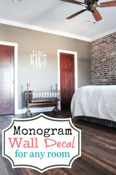 A Personalized Monogram Wall Decal