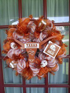 Texas Longhorn Wreath
