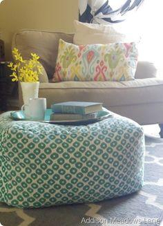West Elm, Floor Pouf, Floor Cushions, Diy Divan, Decor Crafts, Diy Home Decor, Diy Crafts, Diy Pouf, Knock Off Decor