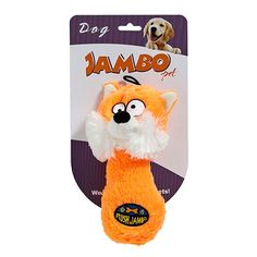 Brinquedo Mordedor para Cachorro Pelúcia Raposa Plush Fox Jambo Pet - v