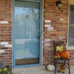 How to Paint Your Front Door and Metal Framed Storm Door