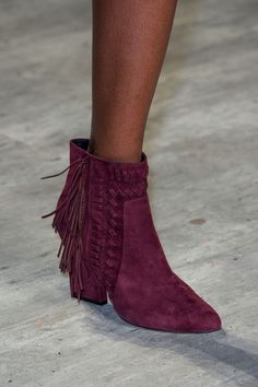 Rebecca Minkoff, Fall 2015 - Best Shoes from New York Fashion Week Fall 2015 - StyleBistro Suede Ankle Boots, Bootie Boots, Shoe Boots, Suede Booties, Ankle Booties, Rebecca Minkoff, Only Shoes, Fashion Week, Women's Fashion