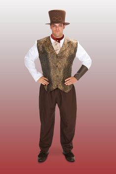 Adult Steampunk Man With Neck Piece Plus Costume Plus Halloween Costumes, Adult Costumes, Steampunk Costume, Neck Piece, Personality, Dress Up, Women, Costume, Woman