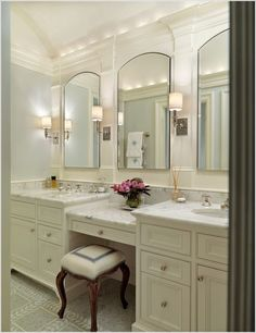 double sink vanity with makeup area.double vessel sink vanity with makeup area.bathroom vanity double sink with makeup area.double sink bath vanity with makeup area. Double Sink Bathroom, Bathroom Sink Vanity, Bath Vanities, Double Sinks, Double Vanity, Bathroom Cabinets, Restroom Cabinets, Vanity Room, Vanity Decor