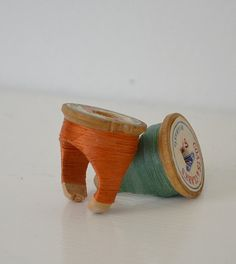 beautifully upcycled vintage spool into a ring by Arc of Time (http://www.etsy.com/shop/ArcOfTime?ref=seller_info) - $18